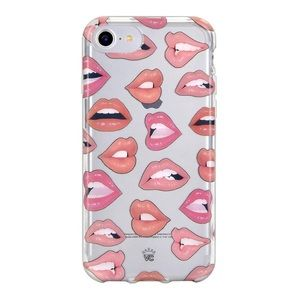 Velvet Caviar nude lips iPhone 8 case
